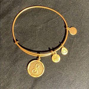 """Alex & Ani """"S"""" initial bracelet"""
